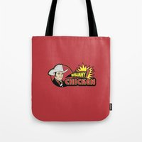will ferrell Tote Bags featuring Whammy design by Buby87