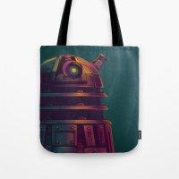dalek Tote Bags featuring Dalek by KiloWhat