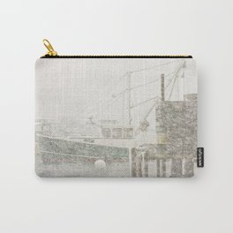 Bass Harbor in Heavy Snowstorm, Mount Desert Island, Maine Carry-All Pouch