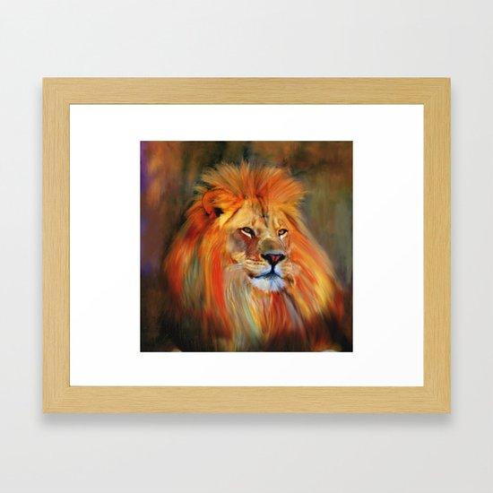 Aslan - Colorful Lion by marywhitmer