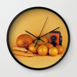 Orange carrots - still life Wall Clock