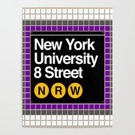 subway nyu sign Poster