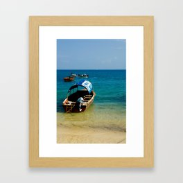Your Taxi Awaits. Framed Art Print