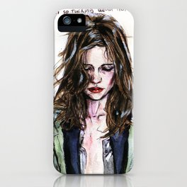 Marine Vacth iPhone Case