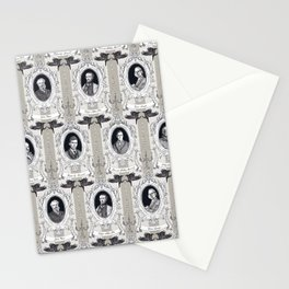 My favorite Authors Toile de Jouy Stationery Cards