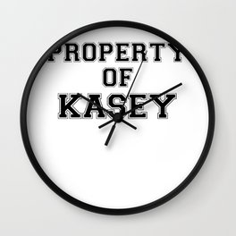 Property of KASEY Wall Clock