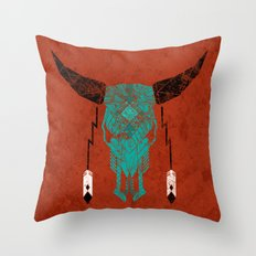 Southwest Skull Throw Pillow