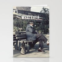 whatever Stationery Cards featuring WHATEVER by farsidian