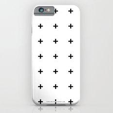 Black Plus on White /// www.pencilmeinstationery.com Slim Case iPhone 6