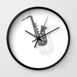 Saxophone Musical Instrument Wall Clock
