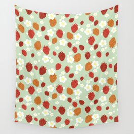 Strawberry Blossom Wall Tapestry