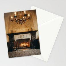 Cozy Fireplace Stationery Cards