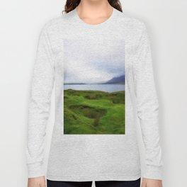 green grass carpet Long Sleeve T-shirt
