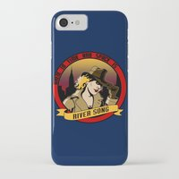 river song iPhone & iPod Cases featuring Where In Time and Space Is River Song? by mikaelak