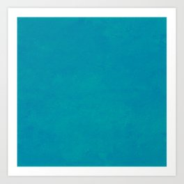 color trend clear blue aquamarine plain Art Print