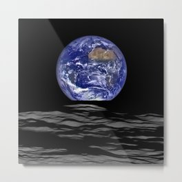 NASA Image of the Earth Seen From the Moon Metal Print