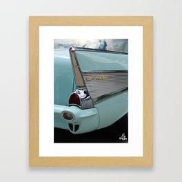 Shark Fin Framed Art Print