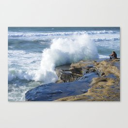 Watching The Waves ~ Sunset Cliffs, California Canvas Print