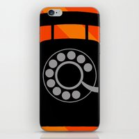 telephone iPhone & iPod Skins featuring telephone by vitamin