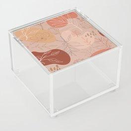 Pink Abstract Desert Pattern Acrylic Box