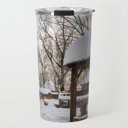 Pastoral winter scene Travel Mug