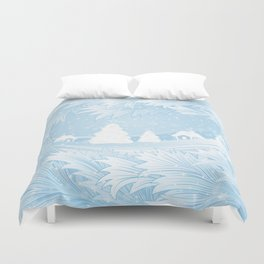 Winter background Duvet Cover