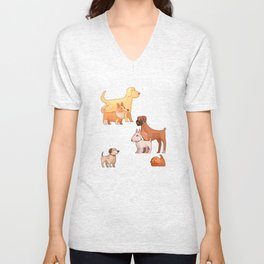 Need All These Dogs Unisex V-Neck