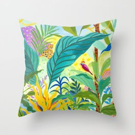 Paradise Jungle Throw Pillow