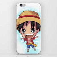 luffy iPhone & iPod Skins featuring Luffy by Midnight Tardis