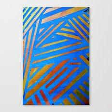 Geometric Blue Canvas Print