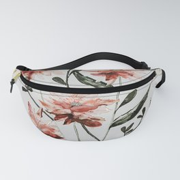 Pink Florals Watercolor Fanny Pack