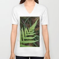 fern V-neck T-shirts featuring Fern by Todd Langland