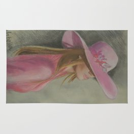 Lady in the hat Rug