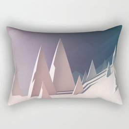 Winter trees landscape Rectangular Pillow