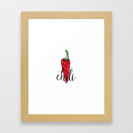 Chili Framed Art Print