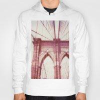 brooklyn bridge Hoodies featuring Brooklyn Bridge by Jon Damaschke