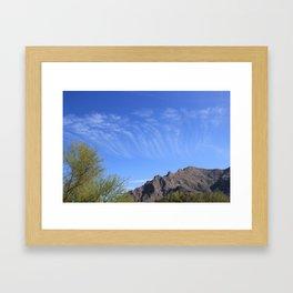 Sky Rake Framed Art Print