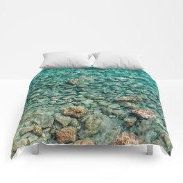 Reefs in transparent azure water Comforters