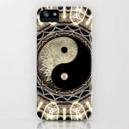 Yin Yang Geometry Mandala V1 iPhone Case