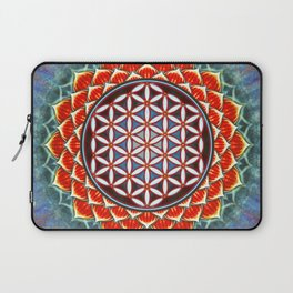 Flower Of Live - Red Lotus Laptop Sleeve
