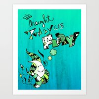 Thought Today was Friday Art Print