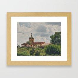 Countryside chapel Framed Art Print