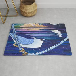 Galactic Night Heron Rug