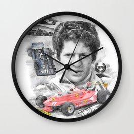 Jody Scheckter Wall Clock