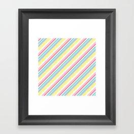 Party stripes Framed Art Print