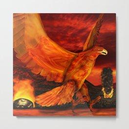 Myth Series 3 Phoenix Fire Metal Print