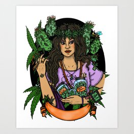 Our Lady of Perpetual Budtending Art Print