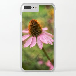 cone flower Clear iPhone Case
