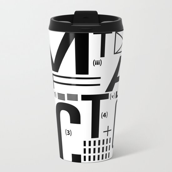 METAL FICTION Metal Travel Mug