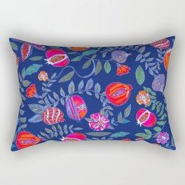 Pomegranate pattern electric blue Rectangular Pillow